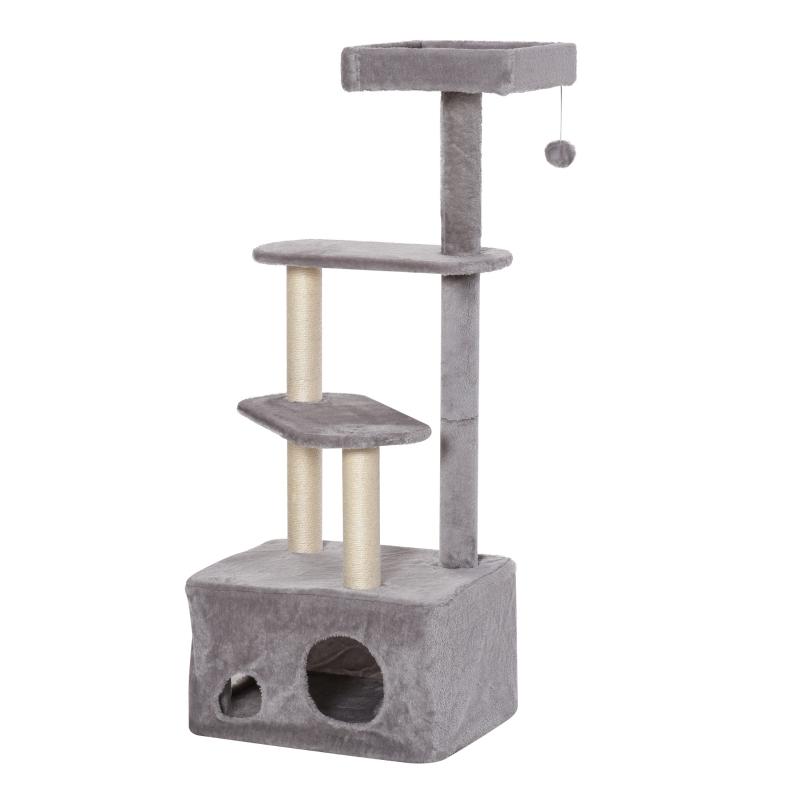 PawHut Cat Tree Kitten Tower w/ Sisal Scratching Post Condo Plush Perches Hanging Ball