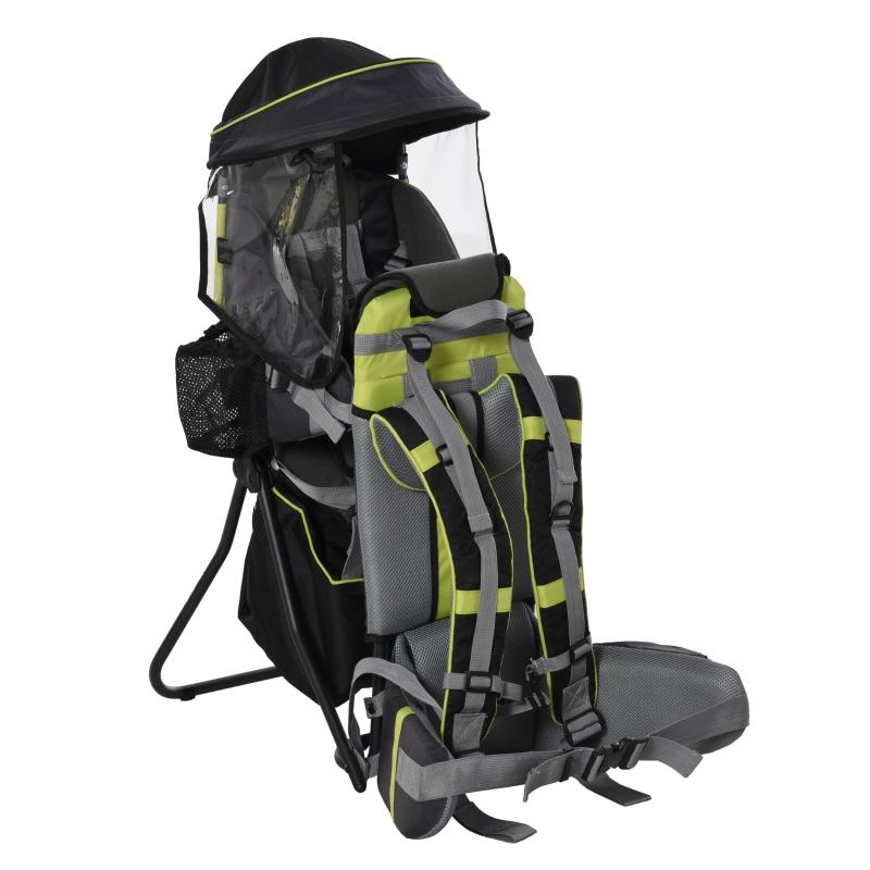 HOMCOM Hikers Ergonomic Baby Backpack w/ Rain Cover