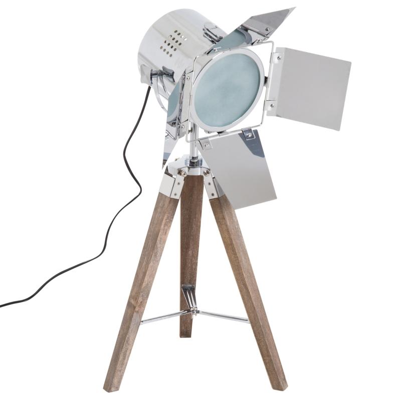 HOMCOM® LAMPKA STOŁOWA srebrna NA TRZECH NOGACH LAMPA RETRO E14