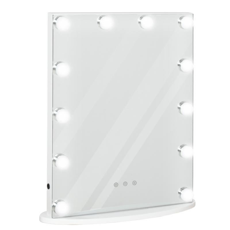 HOMCOM Hollywood Vanity LED Mirror Dimmable Illuminated Lights White 42cm x 14cm