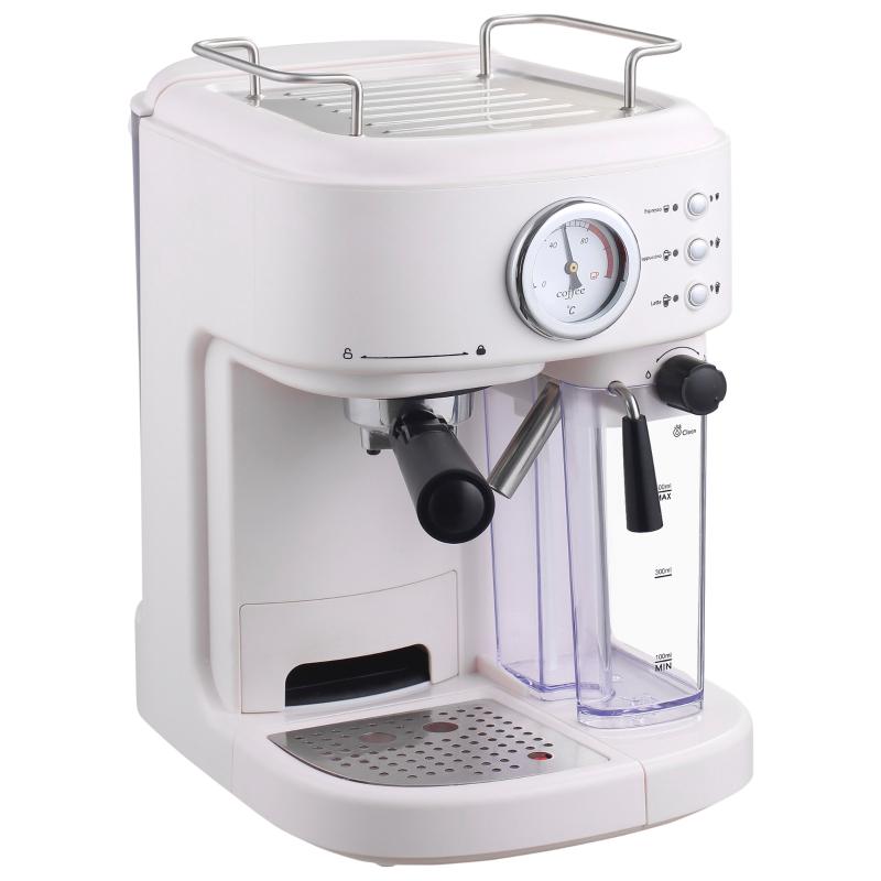 HOMCOM Coffee Machine Espresso& Cappuccino& Latte Maker with Milk Frothing Steamer
