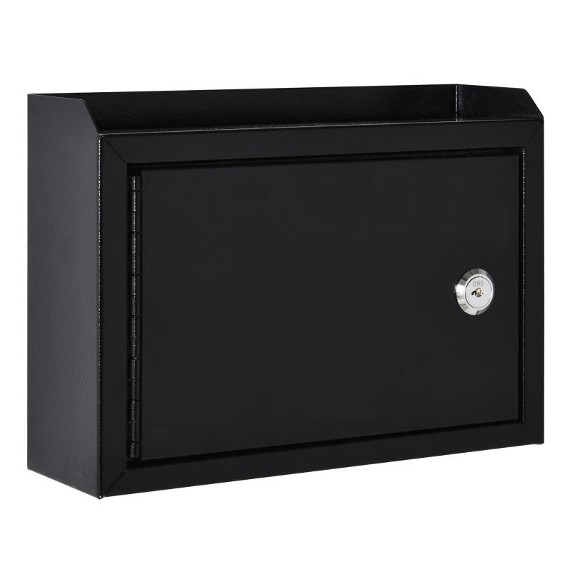 Skrzynka na listy ścienna skrzynka na listy zamykana na klucz z 2 kluczami stalowa