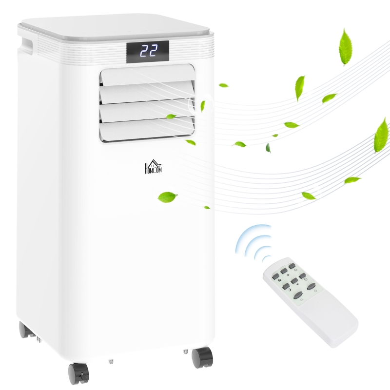 Klimatyzator przenośny 4 tryby Klimatyzator z pilotem timer 24 h ABS Biały