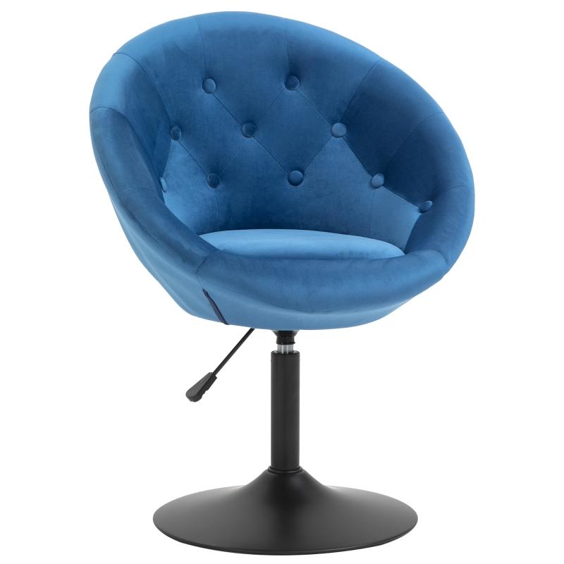 Stołek barowy stołek obrotowy krzesło obrotowe stal z regulacją wysokości poliester + stal niebieski