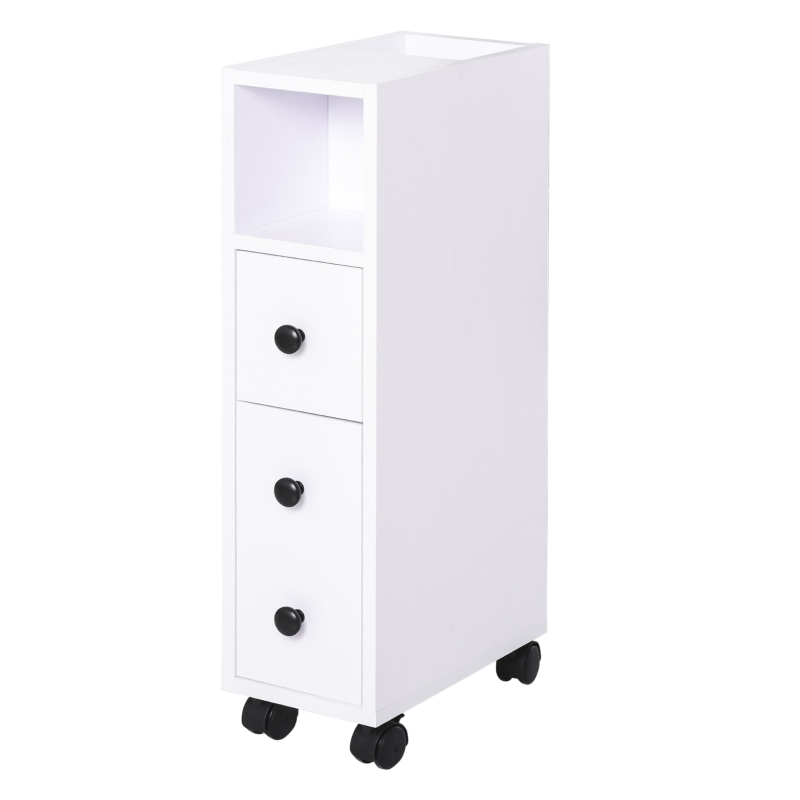 kleankin Particle Board Compact Bathroom Drawers White