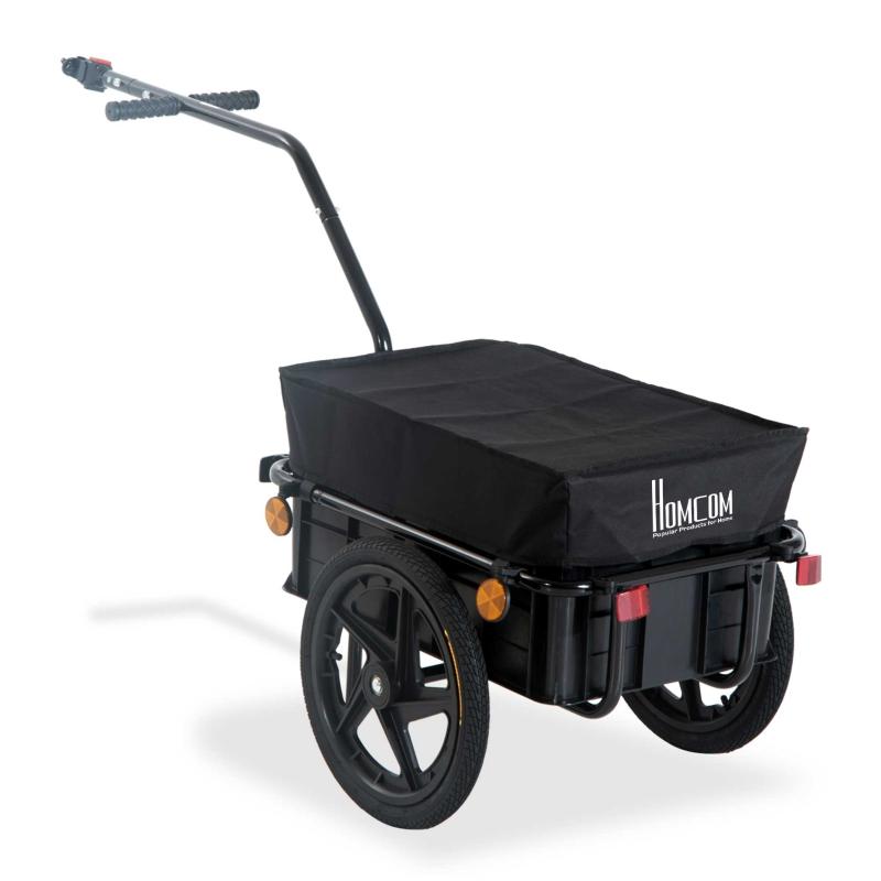 HOMCOM Cargo Trailer Bike W/Carrier Utility Luggage