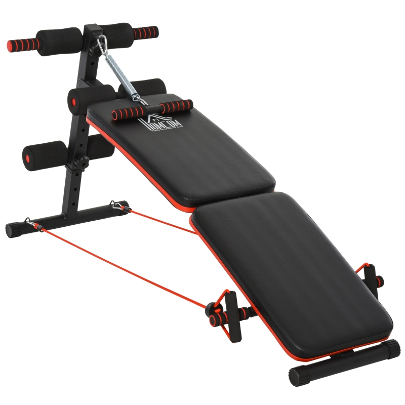 HOMCOM Steel Foldable Home Core Workout Bench Red/Black