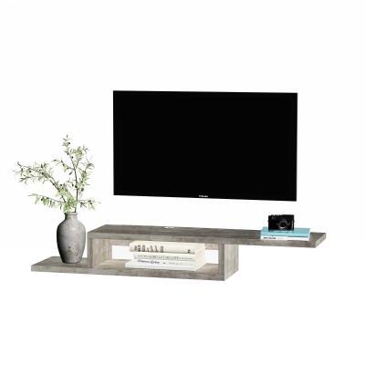 Tv-wandkast lowboard hangplank Tv-kast spaanplaat cementgrijs