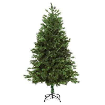 HOMCOM Árbol Artificial de Navidad con Base Plegable 934 Ramas PE Tridente y PVC Individual Árbol Navideño Decorativo Exteriores Interiores Ø105x210cm Verde