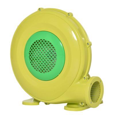 Outsunny Soplador Eléctrico de 450W para Castillo Hinchable Ventilador de Aire Industrial para Juguetes Inflables 35x26x33,5cm Amarillo y Verde