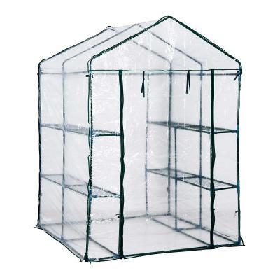 Outsunny® Invernadero Transparente de Jardín Vivero Casero Plantas con 3 Pisos