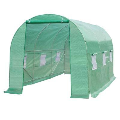 OUTSUNNY Invernadero de Cultivo para Terraza o Jardín - Color Verde - Tubo acero y PE 140g/㎡ - 450x200x200 cm