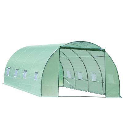 Outsunny Invernadero caseta 600 x 300 x 200 cm para jardin y terraza cultivo de plantas y semillas