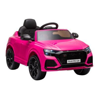 HOMCOM Coche Eléctrico Infantil +3 Años Licencia Audi RS Q8 con Batería 6V Mando a Distancia Música MP3 Bocina y Luces Velocidad Máx. 3km/h 101x62x51 cm Rosa