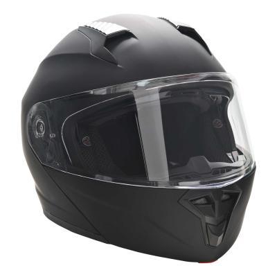 HOMCOM Casco de Moto Integral Talla L-59 cm Casco de Motocicleta con Doble Visera Cabezal Anticolisión y Ventilaciones con Certificación Europea Unisex Color Negro