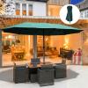 parasol met zwengel tuinparasol dubbele marktparasol 460 x 270 cm donkergroen(m-2)