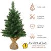 kerstboom voor op tafel 0,6 m kleine kerstboom 70 takken linnen PVC cement(m-5)