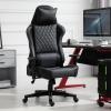 Ergonomische gamingstoel, kantoorstoel met kantelfunctie, in hoogte verstelbaar zwart(m-2)