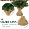 kerstboom voor op tafel 0,6 m kleine kerstboom 70 takken linnen PVC cement(m-6)