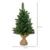 kerstboom voor op tafel 0,6 m kleine kerstboom 70 takken linnen PVC cement(m-3)