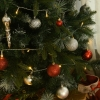 kunstkerstboom 1,5 m kerstboom dennenboom 770 takken metalen voet PVC(m-3)
