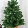 kerstboom voor op tafel 0,6 m kleine kerstboom 70 takken linnen PVC cement(m-9)