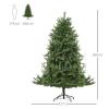 kunstkerstboom 1,8 m kerstboom dennenboom 1853 takken metalen voet PVC(m-3)