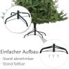 kunstkerstboom 1,8 m kerstboom dennenboom 1853 takken metalen voet PVC(m-5)
