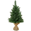 kerstboom voor op tafel 0,6 m kleine kerstboom 70 takken linnen PVC cement(m-1)