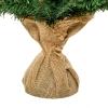 kerstboom voor op tafel 0,6 m kleine kerstboom 70 takken linnen PVC cement(m-11)