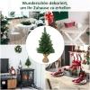 kerstboom voor op tafel 0,6 m kleine kerstboom 70 takken linnen PVC cement(m-4)