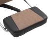 Kantoorstoel ergonomische gamestoel draaistoel met voetensteun linnen bruin(m-11)