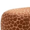 Dierenkruk decoratieve kruk gestoffeerde kruk met dierenmotief giraffe ottoman(m-10)