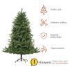 kunstkerstboom 1,8 m kerstboom dennenboom 1853 takken metalen voet PVC(m-6)
