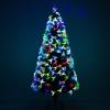 Kerstboom 1,8 m kerstboom 230 takken metalen voet meerkleurige lichteffecten(m-5)