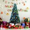 Kerstboom 1,8 m kerstboom 230 takken metalen voet meerkleurige lichteffecten(m-2)