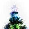 Kerstboom 1,8 m kerstboom 230 takken metalen voet meerkleurige lichteffecten(m-6)