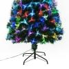 Kerstboom 1,8 m kerstboom 230 takken metalen voet meerkleurige lichteffecten(m-7)