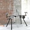 Werktafel voor verstekzagen staalverstekzaag 123,5 - 245 cm(m-2)