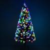 Kerstboom 1,8 m kerstboom 230 takken metalen voet meerkleurige lichteffecten(m-4)