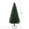 Kerstboom 1,8 m kerstboom 230 takken metalen voet meerkleurige lichteffecten(m-3)