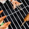 3-in-1 vuurschaal vuurkorf met vonkbescherming grillrooster tuin barbecue zwart(m-10)