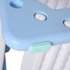 HOMCOM kinderbord met kinderstoel magnetisch schrijfbord voor 3-6 jaar blauw(m-10)