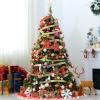 kerstboom dennenboom kerstboom met LED's glasvezelboom ster 8 model(m-2)