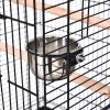 Bird Cage 51Lx51Wx137H cm, Metal Wire, Steel Pipe-Black(m-7)