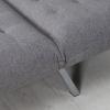 HOMCOM® Relaxliege Chaiselongue Schlafsessel mit Schlaffunktion Leinen Grau(m-10)