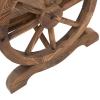 Outsunny® Gartenbank Sitzbank Gartenmöbel Armlehne Wagenräder-Design Massivholz Braun(m-7)