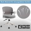 HOMCOM® Bürostuhl Drehstuhl Wippfunktion Netzdesign Grau Weiß(m-7)