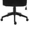 Vinsetto Schreibtischstuhl Drehstuhl höhenverstellbar Chefsessel mit Rollen Schwarz(m-8)