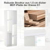 HOMCOM® Bücherregal Standregal Aktenregal 2-teilige Regale Büroregal MDF Weiß 120 x 35 x 50 cm(m-6)